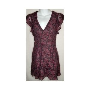 BCBGeneration Women's Lace Dress with Caged Back